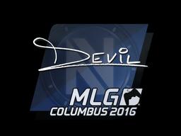 Sticker   DEVIL   MLG Columbus 2016