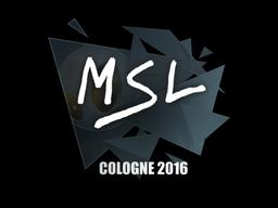 Sticker | MSL | Cologne 2016