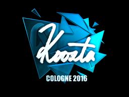 Sticker   koosta (Foil)   Cologne 2016