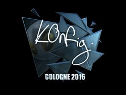 Sticker | k0nfig (Foil) | Cologne 2016