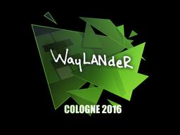Sticker | wayLander | Cologne 2016
