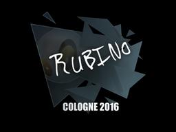 Sticker   RUBINO   Cologne 2016