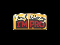 Sticker   Don't Worry, I'm Pro