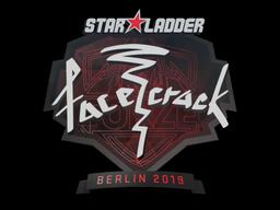 Sticker   facecrack   Berlin 2019