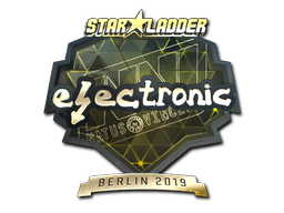 Sticker | electronic (Gold) | Berlin 2019