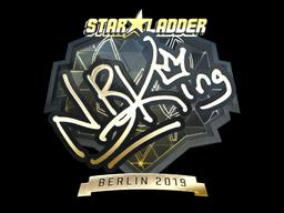 Sticker | NBK- (Gold) | Berlin 2019