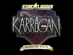 Sticker | karrigan (Gold) | Berlin 2019