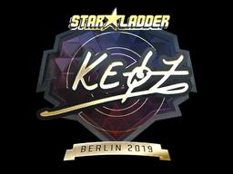 Sticker   Keoz (Gold)   Berlin 2019
