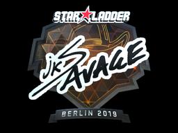 Sticker   jks (Foil)   Berlin 2019