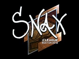 Sticker   Snax (Foil)   Boston 2018