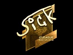 Sticker   SicK (Gold)   Boston 2018