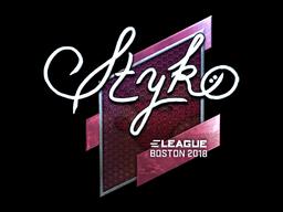 Sticker | STYKO (Foil) | Boston 2018