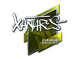 Sticker   XANTARES (Foil)   Boston 2018