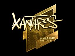Sticker | XANTARES (Gold) | Boston 2018