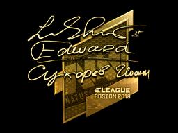 Sticker   Edward (Gold)   Boston 2018