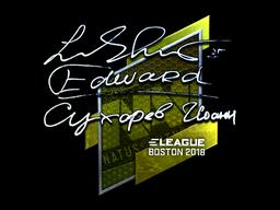 Sticker   Edward (Foil)   Boston 2018