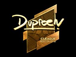 Sticker   dupreeh (Gold)   Boston 2018