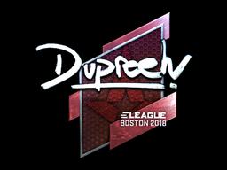 Sticker | dupreeh (Foil) | Boston 2018