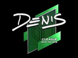 Sticker   denis   Boston 2018