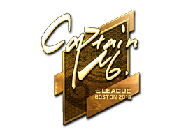 Sticker   captainMo (Gold)   Boston 2018