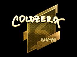 Sticker   coldzera (Gold)   Boston 2018