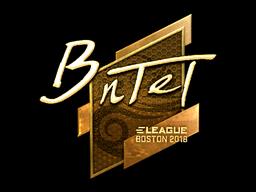 Sticker | BnTeT (Gold) | Boston 2018