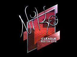 Sticker   NiKo (Foil)   Boston 2018