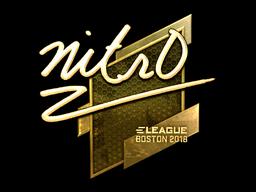 Sticker   nitr0 (Gold)   Boston 2018