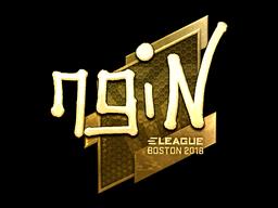 Sticker | ngiN (Gold) | Boston 2018