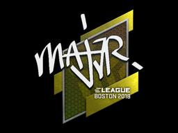 Sticker   MAJ3R   Boston 2018