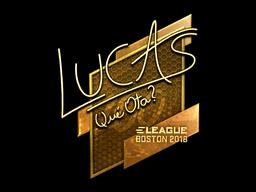 Sticker   LUCAS1 (Gold)   Boston 2018