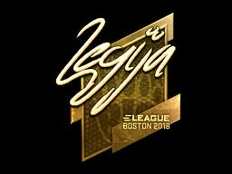 Sticker | LEGIJA (Gold) | Boston 2018