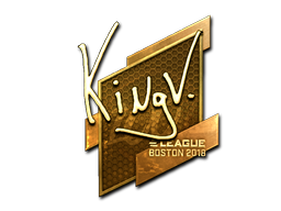 Sticker   kNgV- (Gold)   Boston 2018