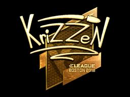 Sticker   KrizzeN (Gold)   Boston 2018