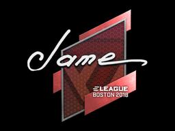 Sticker | Jame | Boston 2018